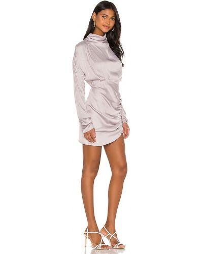 Fioletowa sukienka rozkloszowana casual Elliatt