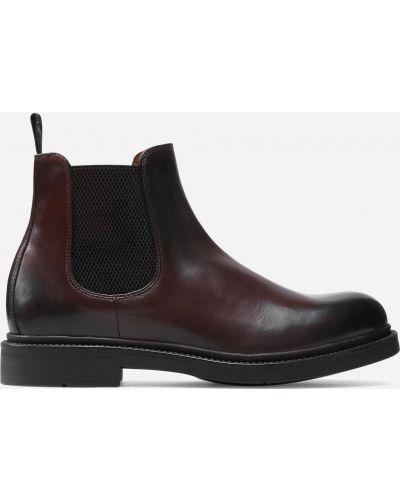 Ботинки челси на каблуке - коричневые Gino Rossi