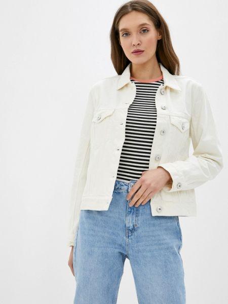 Джинсовая куртка весенняя белая Tommy Hilfiger
