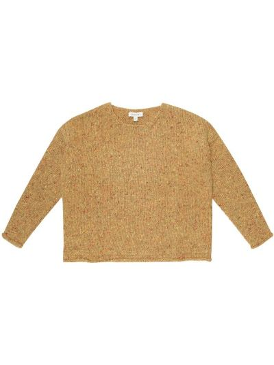 Шерстяной желтый свитер Caramel