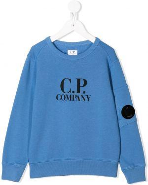 Толстовка синяя Cp Company Kids
