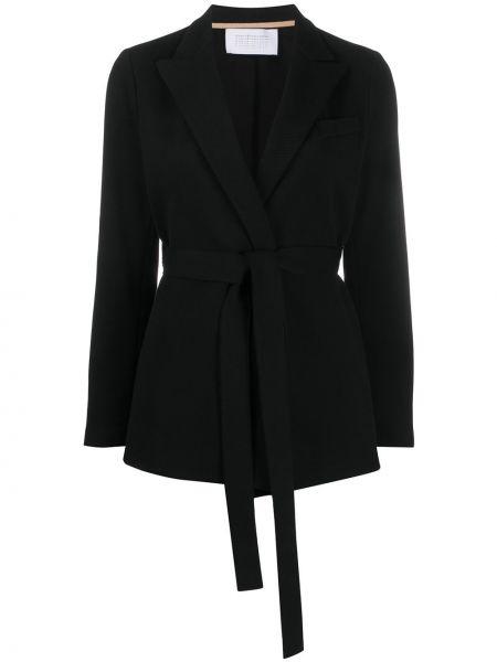 Классическая черная куртка с поясом с лацканами Harris Wharf London
