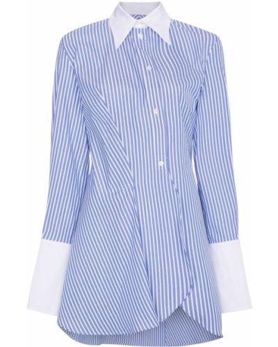 Синяя асимметричная рубашка Wright Le Chapelain