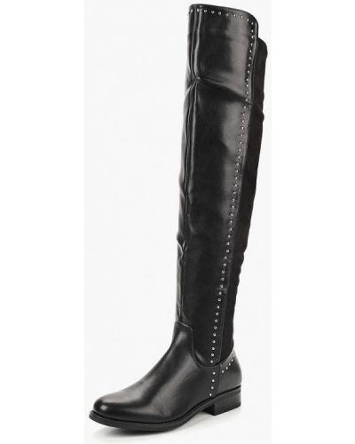 Ботфорты на каблуке кожаные замшевые Sweet Shoes