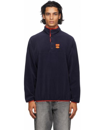 Pomarańczowy pulower z długimi rękawami polarowy Carne Bollente