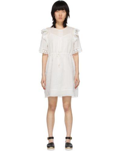 Платье с вышивкой в полоску See By Chloe