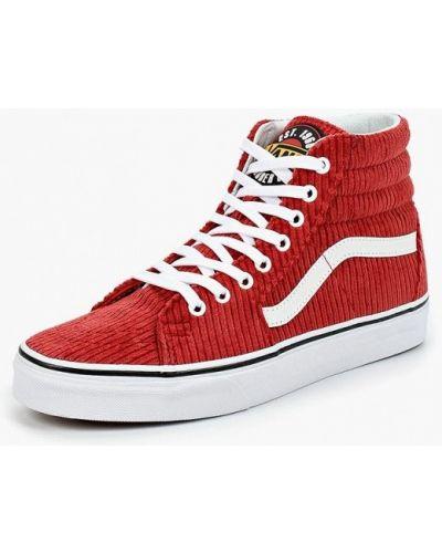 Красные высокие кеды Vans