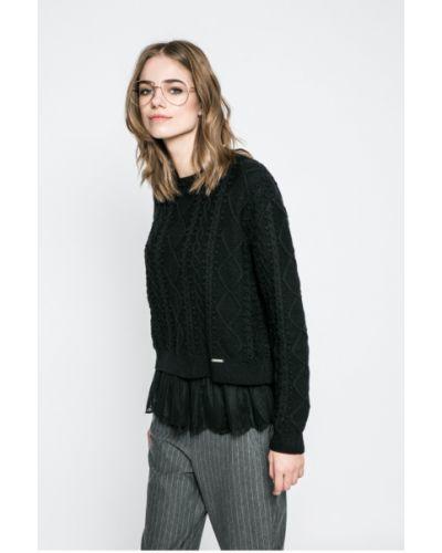 Вязаный свитер шерстяной с узором Guess Jeans