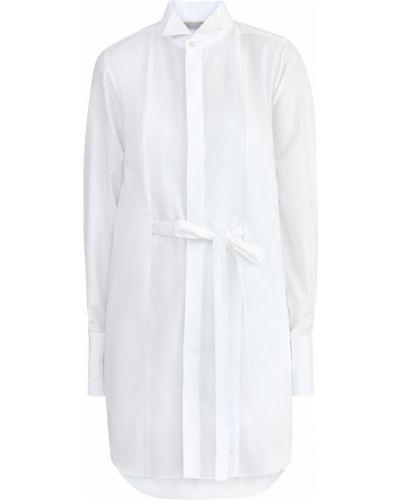 Платье с поясом платье-комбинация из поплина Stella Mccartney