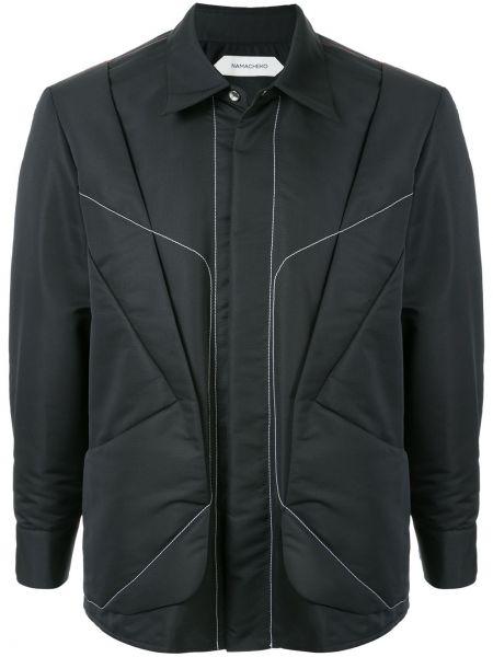 Черная облегченная куртка на пуговицах с воротником Namacheko