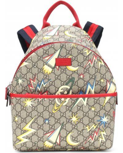 Brezentowy beżowy bawełna szkoła plecak Gucci Kids