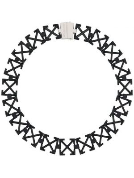Ожерелье металлический черный Off-white