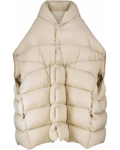 Бежевое пальто без рукавов Rick Owens
