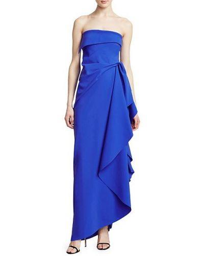 Синее платье макси без бретелек без рукавов Chiara Boni La Petite Robe