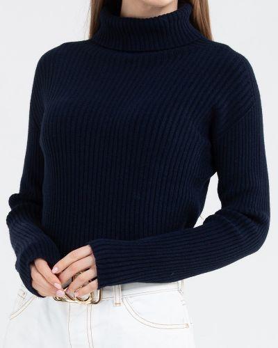 Вязаный свитер - синий Kontatto