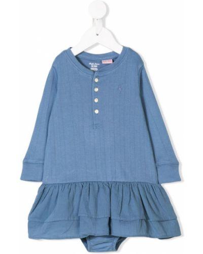 Платье с рукавами длинное на пуговицах Ralph Lauren Kids