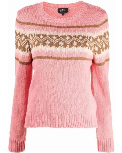 Джемпер с вырезом - розовый A.p.c.