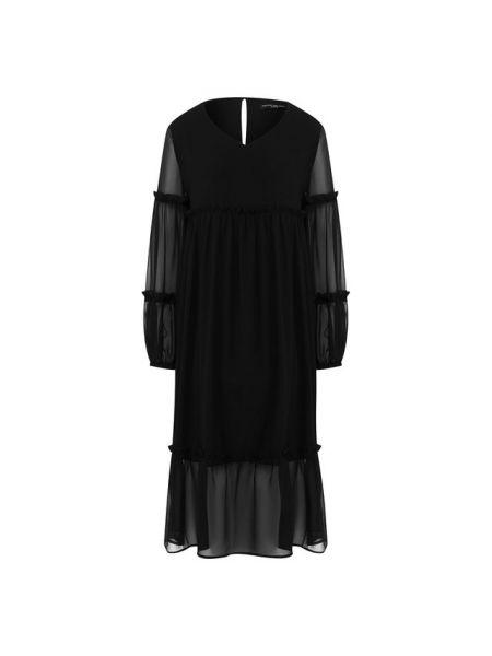 Платье каскадное с V-образным вырезом Pietro Brunelli