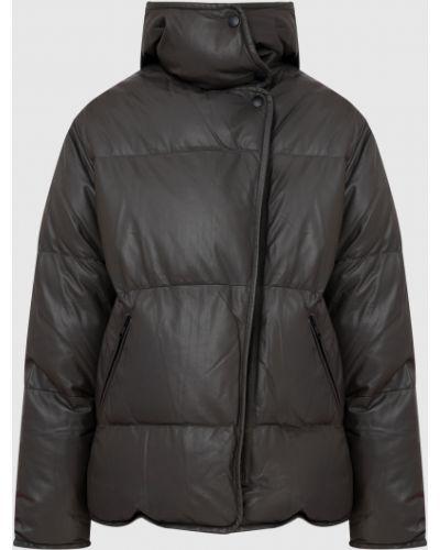 Кожаная куртка с мехом Yves Salomon Army