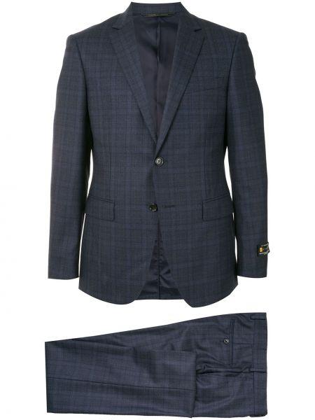 Шерстяной костюмный костюм классический на пуговицах с карманами D'urban