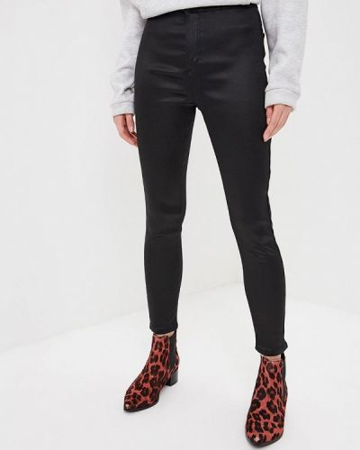 Черные брюки повседневные Topshop