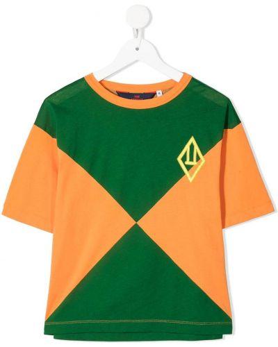 Pomarańczowy t-shirt bawełniany z printem The Animals Observatory