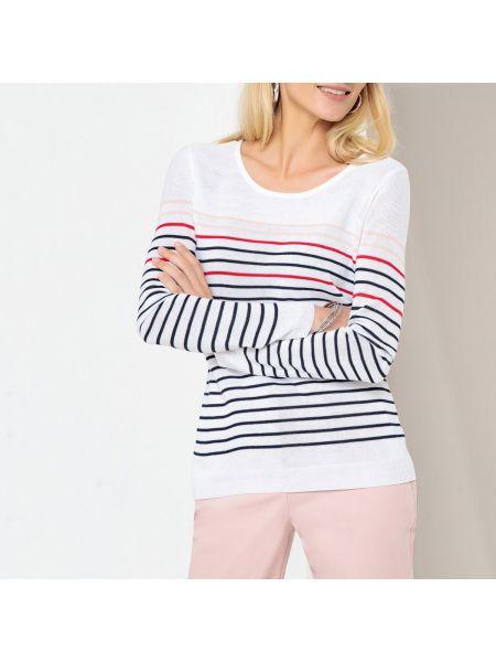 Пуловер в полоску в рубчик Anne Weyburn