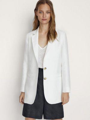 Белый пиджак Massimo Dutti