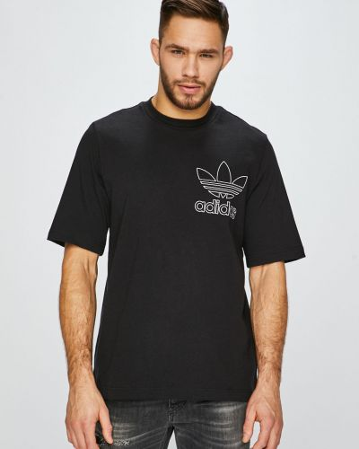 Футболка хлопковая прямая Adidas Originals