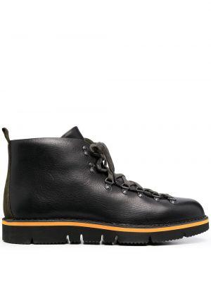 Кожаные ботинки трекинговые на каблуке на шнуровке Maharishi