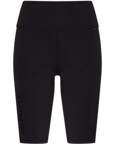 Черные с завышенной талией шорты с нашивками Goldbergh