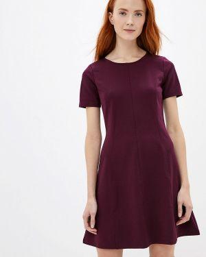 Платье бордовый прямое Gap