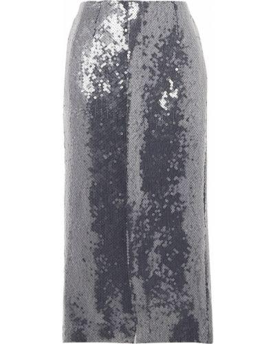 Niebieska spódnica midi z cekinami Roland Mouret
