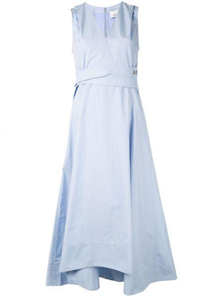 Платье миди с V-образным вырезом с карманами 3.1 Phillip Lim