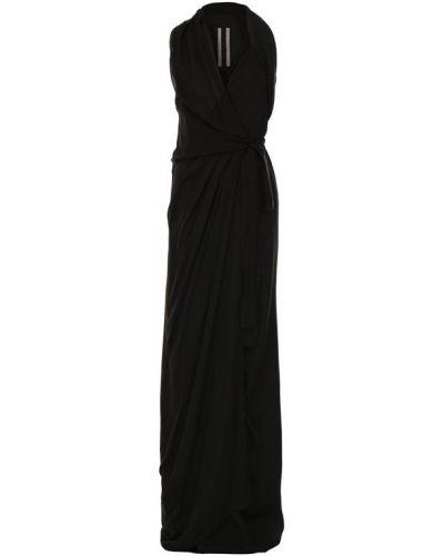 Вечернее платье с запахом с декольте Rick Owens