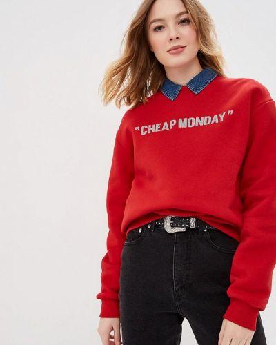 Красный свитшот Cheap Monday