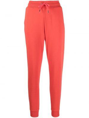 Оранжевые хлопковые спортивные брюки с поясом Armani Exchange