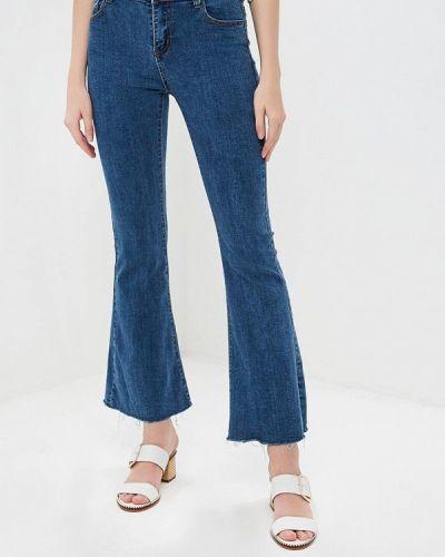 Широкие джинсы расклешенные синие Marissimo