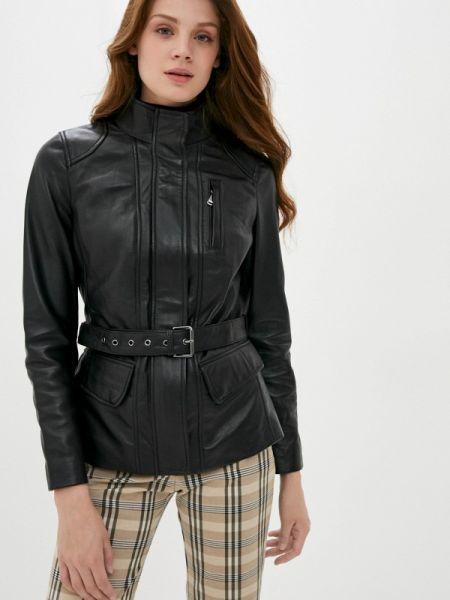 Кожаная куртка черная весенняя снежная королева