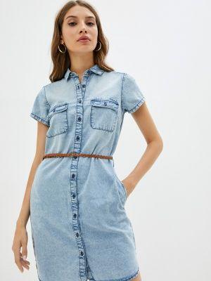 Голубое джинсовое платье Colin's