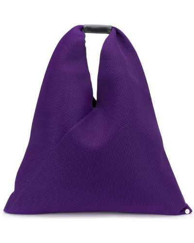 Сиреневая сумка-тоут с сеткой Mm6 Maison Margiela