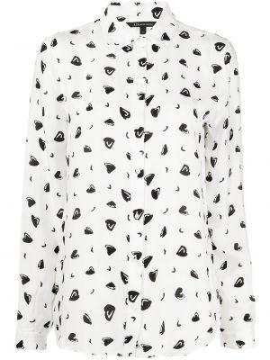 С рукавами белая классическая рубашка с воротником Armani Exchange
