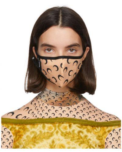С ремешком текстильная черная маска для кожи вокруг глаз Marine Serre
