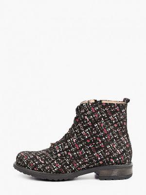 Высокие ботинки - черные Bosccolo