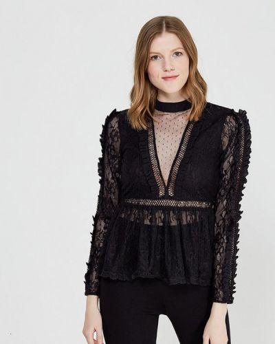 Блузка осенняя черная Miss Selfridge