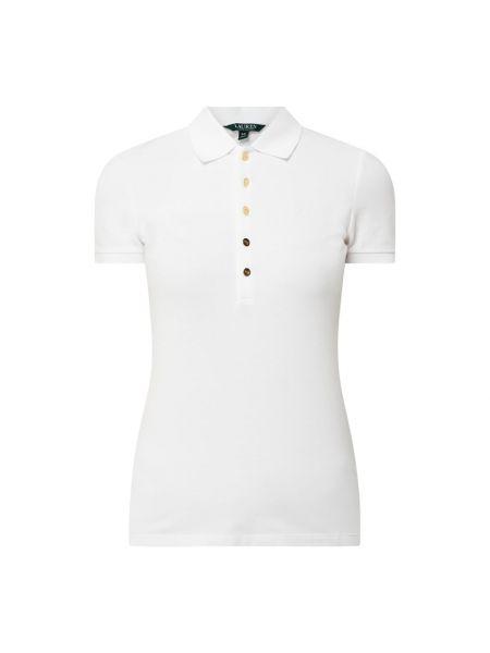 Biały t-shirt bawełniany Lauren Ralph Lauren