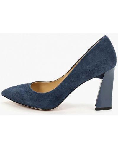Туфли на каблуке замшевые синий O`shade