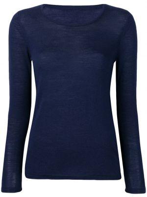 Пуловер с вырезом - синий Sottomettimi