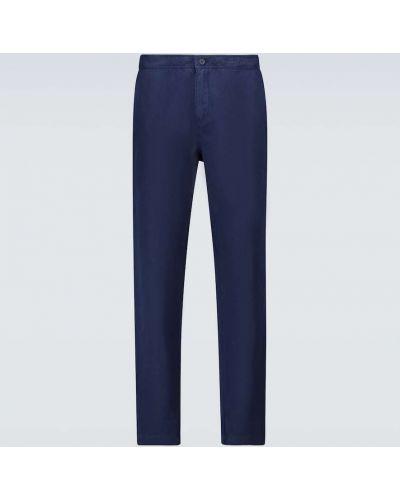 Brązowe spodnie bawełniane Orlebar Brown