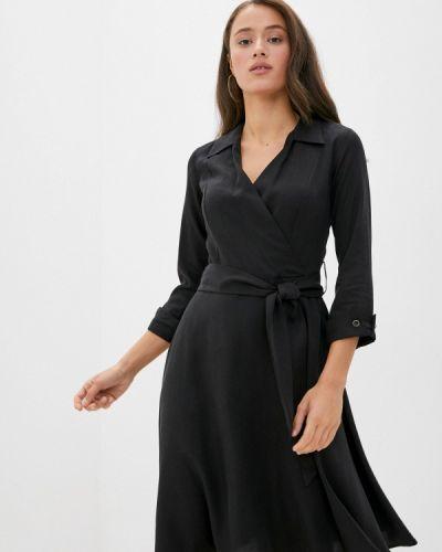 Черное платье с запахом Savage